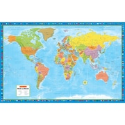MapArt World Lg Scale Wall Map