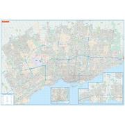 MapArt Toronto Wall Map Laminated