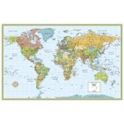 MapArt World Flag Wall Map