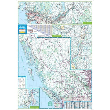 MapArt British Columbia Wall Map