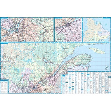 MapArt Quebec Wall Map