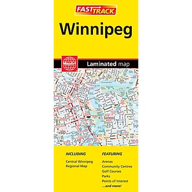 MapArt Winnipeg Laminated Map