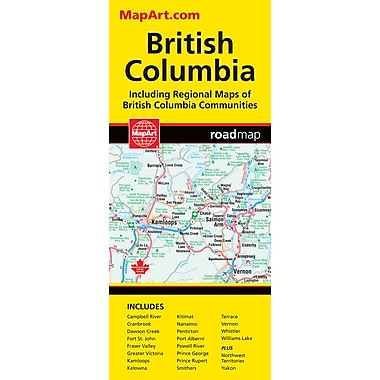 MapArt British Columbia Folding Map