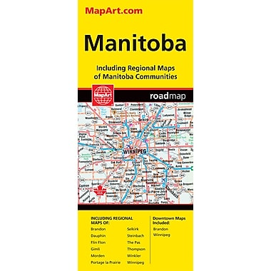 MapArt Manitoba Folding Map