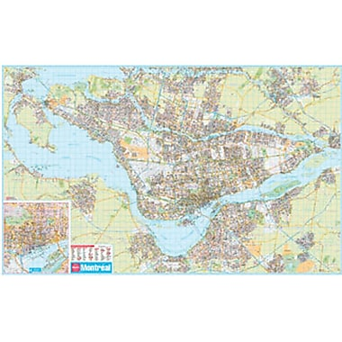 MapArt Momtreal Laminated Wall Map