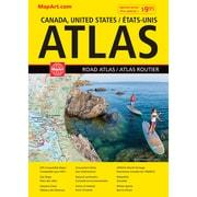 MapArt Canada USA Mexico Large Print Road Atlas