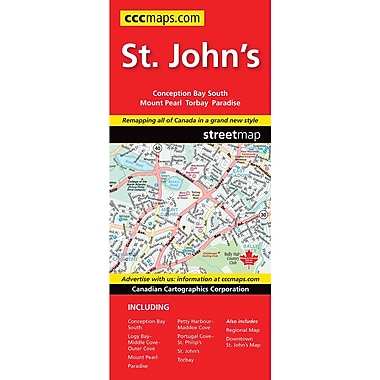 MapArt St Johns Nl Map