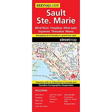 MapArt Sault Ste Marie Map