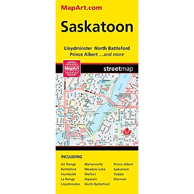 MapArt Saskatoon Folding Map