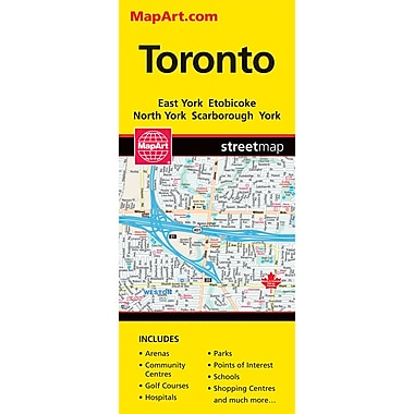 MapArt Toronto Folding Map