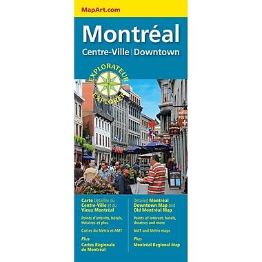 MapArt Montreal Centre Ville Map
