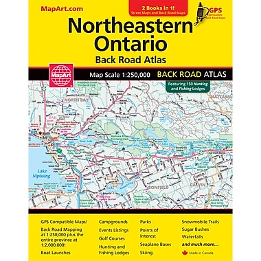 MapArt Northeastern Ontario Back Road Atlas