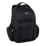 Roots 600d Polyester Backpack Multiple Compartments, Black