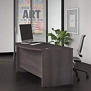 """Bush Business Furniture Studio C 72""""W x 36""""D Bow Front Desk, Storm Gray (SCD172SG)"""