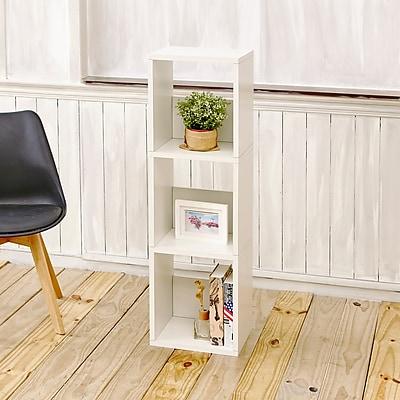 Way Basics Eco-Friendly 3 Shelf Trio Narrow Bookcase Storage Shelf, White