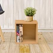 Way Basics Eco Friendly Stackable Storage Cube Organizer Natural Wood Grain