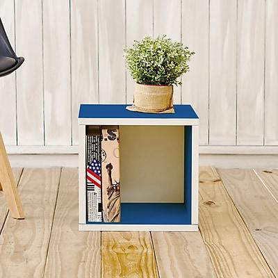 Way Basics Eco-Friendly Stackable Storage Cube Organizer, Blue