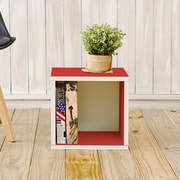 Way Basics Eco-Friendly Stackable Storage Cube Organizer, Red