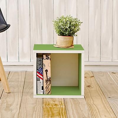 Way Basics Eco-Friendly Stackable Storage Cube Organizer, Green