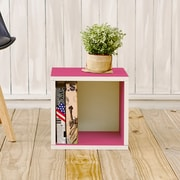 Way Basics Eco-Friendly Stackable Storage Cube Organizer, Pink