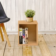 Way Basics Eco-Friendly Stackable Storage Cube Plus Organizer, Natural Wood Grain
