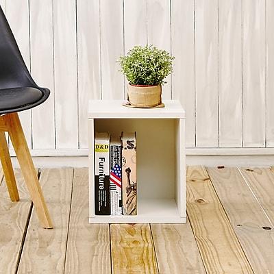 Way Basics Eco-Friendly Stackable Storage Cube Plus Organizer, White