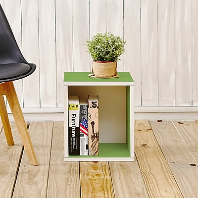 Way Basics Eco-Friendly Stackable Storage Cube Plus Organizer, Green