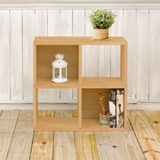 Way Basics Eco-Friendly 4 Cubby Bookcase, Stackable Organizer, Storage Shelf, Natural Wood Grain