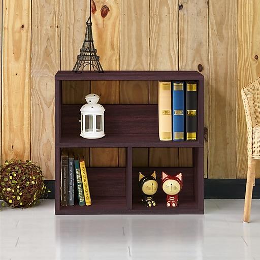 Way Basics 24 8 H Collins Cubby Bookcase Organizer And Modern Eco Storage Shelf Espresso Wood Grain Wb 2shelf 3 Eo