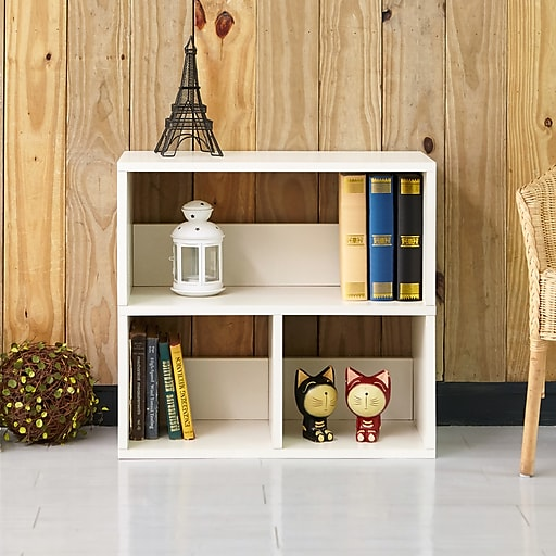 Way Basics 24 8 H Collins Cubby Bookcase Organizer And Modern Eco Storage Shelf White Wb 2shelf 3 We