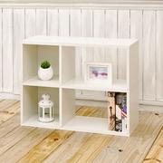 Way Basics Eco-Friendly 2 Shelf Chelsea Bookcase (under desk storage), White