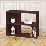 Way Basics Eco-Friendly 2 Shelf Chelsea Bookcase (under desk storage), Espresso Wood Grain