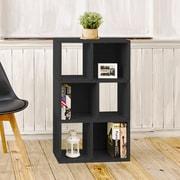 Way Basics Eco-Friendly 3 Shelf Laguna Bookcase Storage Shelf, Black Wood Grain