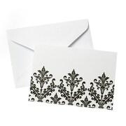 Gartner Studios – Cartes à motif damas noir et blanc, avec enveloppes, paq./20