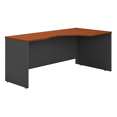 Bush Business Furniture Westfield 72W Right Handed Corner Desk, Auburn Maple, Installed (WC48523FA)