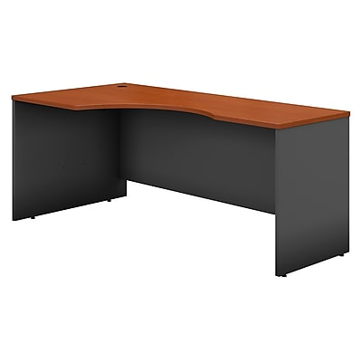 Bush Business Furniture Westfield 72W Left Handed Corner Desk, Auburn Maple, Installed (WC48532FA)