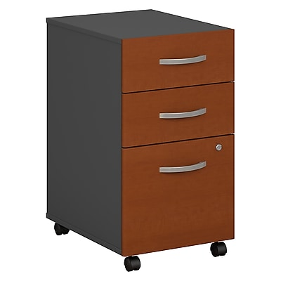 Bush Business Furniture Westfield 3 Drawer Mobile File Cabinet, Auburn Maple, Installed (WC48553SUFA)