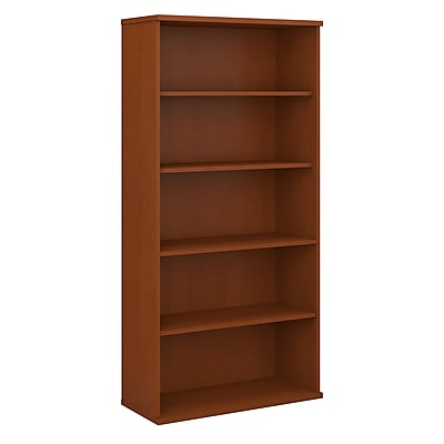 Bush Business Furniture Westfield 36W 5 Shelf Bookcase, Auburn Maple, Installed (WC48514FA)