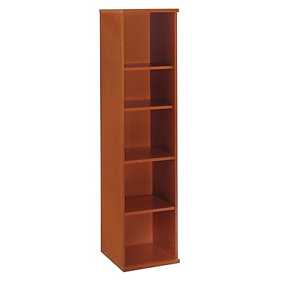 Bush Business Furniture Westfield 18W 5 Shelf Bookcase, Auburn Maple (WC48512)