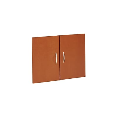 Bush Business Furniture Westfield Half-Height 2 Door Kit, Auburn Maple, Installed (WC48511FA)