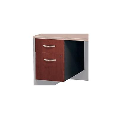 Bush Business Furniture Westfield 2 Drawer 3/4 Pedestal, Hansen Cherry, Installed (WC24490SUFA)