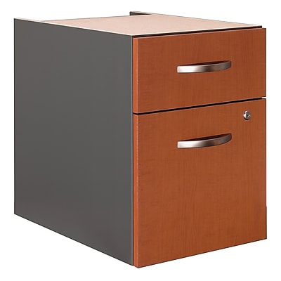 Bush Business Furniture Westfield 2 Drawer 3/4 Pedestal, Auburn Maple, Installed (WC48590SUFA)