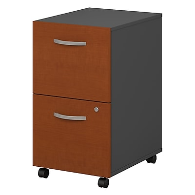Bush Business Furniture Westfield 2 Drawer Mobile File Cabinet, Auburn Maple (WC48552)