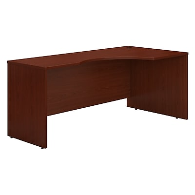 Bush Business Furniture Westfield 72W Right Handed Corner Desk, Mahogany, Installed (WC36723FA)