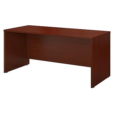 Bush Business Furniture Westfield 60W x 24D Credenza Desk, Mahogany, Installed (WC36761FA)
