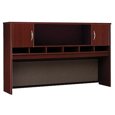 Bush Business Furniture Westfield 72W 2 Door Hutch, Mahogany (WC36766K)