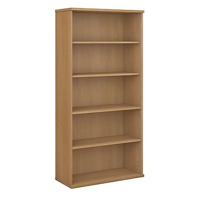 Bush Business Furniture Westfield 36W 5 Shelf Bookcase, Light Oak (WC60314)