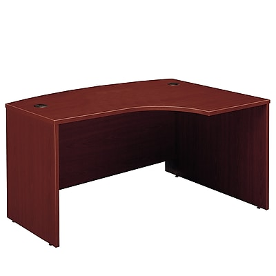 Bush Business Furniture Westfield 60W x 43D Right Handed L Bow Desk, Mahogany, Installed (WC36722FA)