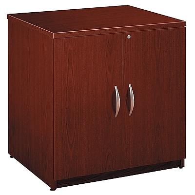 Bush Business Furniture Westfield 30W Storage Cabinet, Mahogany, Installed (WC36796AFA)
