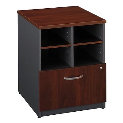 Bush Business Furniture Westfield 24W Storage Cabinet, Hansen Cherry, Installed (WC24404FA)
